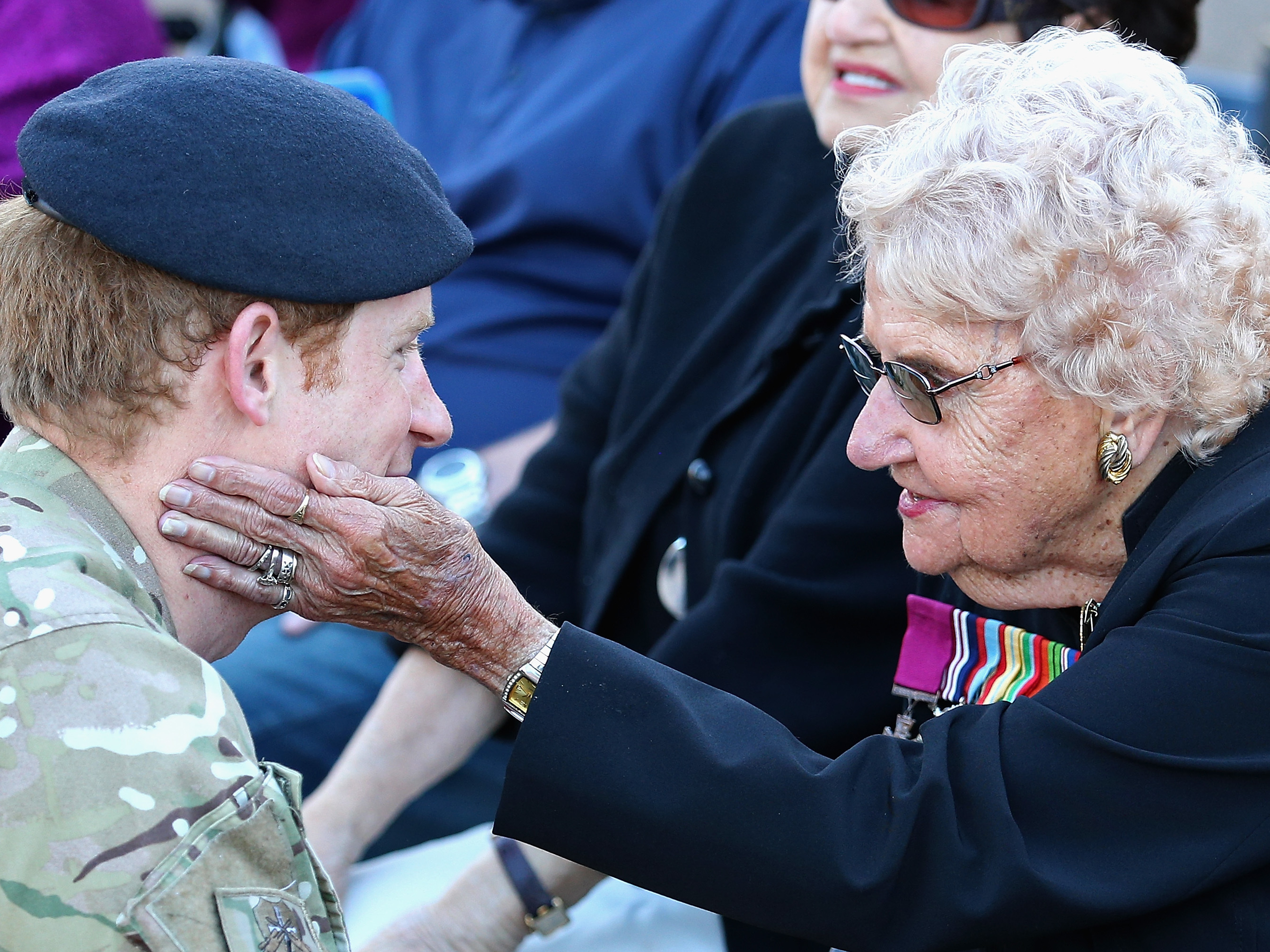 Prince Harry meets Daphne Dunne outside the Sydney Opera House in 2015. Chris Jackson  Getty Images