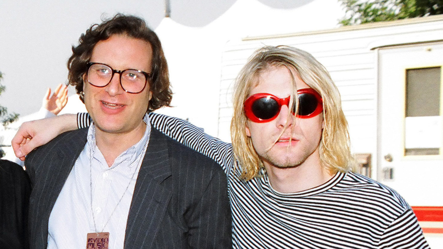 Danny Goldberg and Kurt Cobain attend the 1993 MTV Video Music Awards, at the height of Nirvana's fame.