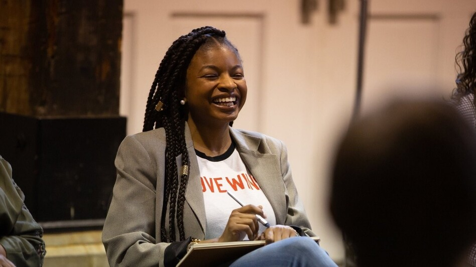 Khadijah Ameen, 29, a woman who voted for Hillary Clinton in 2016, was among the participants of a weekend-long workshop with a dozen people of varying political views. (Courtesy of the National Institute for Civil Discourse and New Voice Strategies)