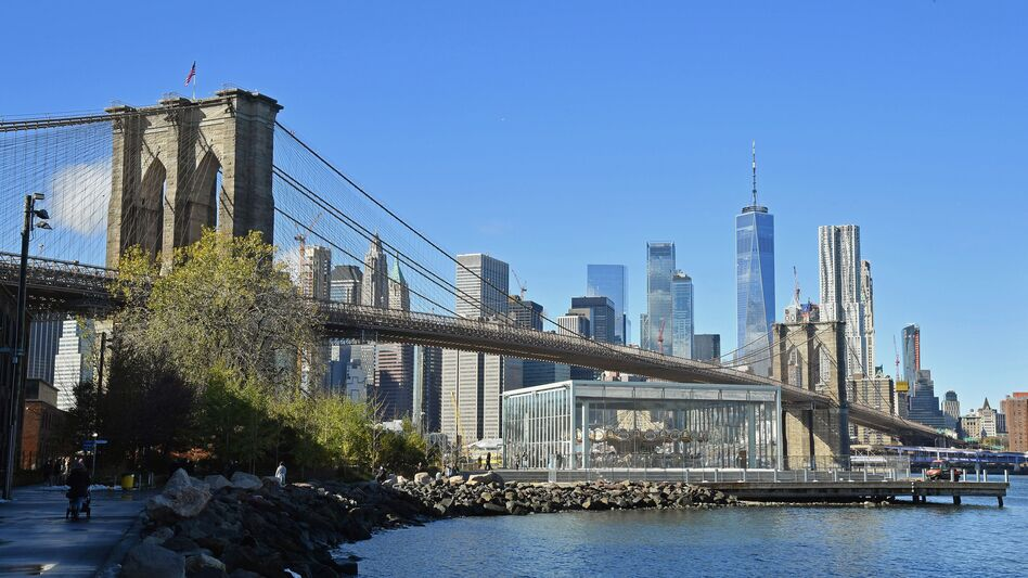 """New York's Brooklyn Bridge is one of more than 47,000 bridges identified as """"structurally deficient,"""" according to the annual report from the American Road and Transportation Builders Association. (Angela Weiss/AFP/Getty Images)"""