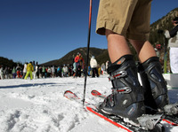 A crowded opening day at Arapahoe Basin Ski Area in Keystone, Colo.