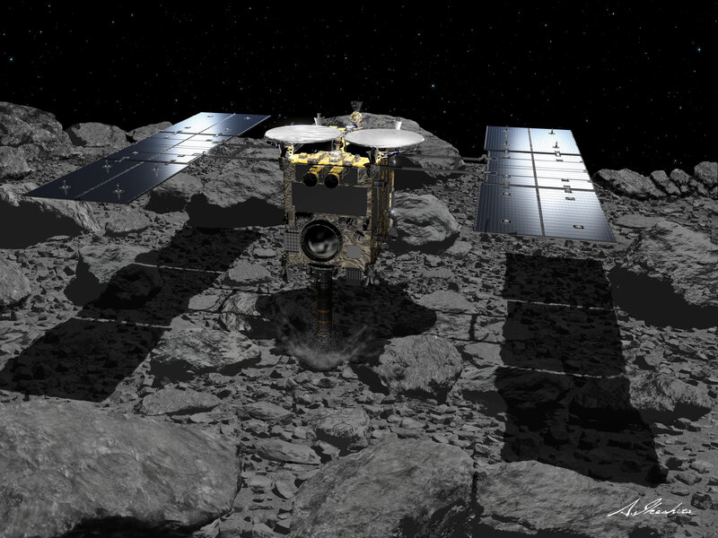 Asteroid Blasted By Explosives From Japanese Spacecraft Npr