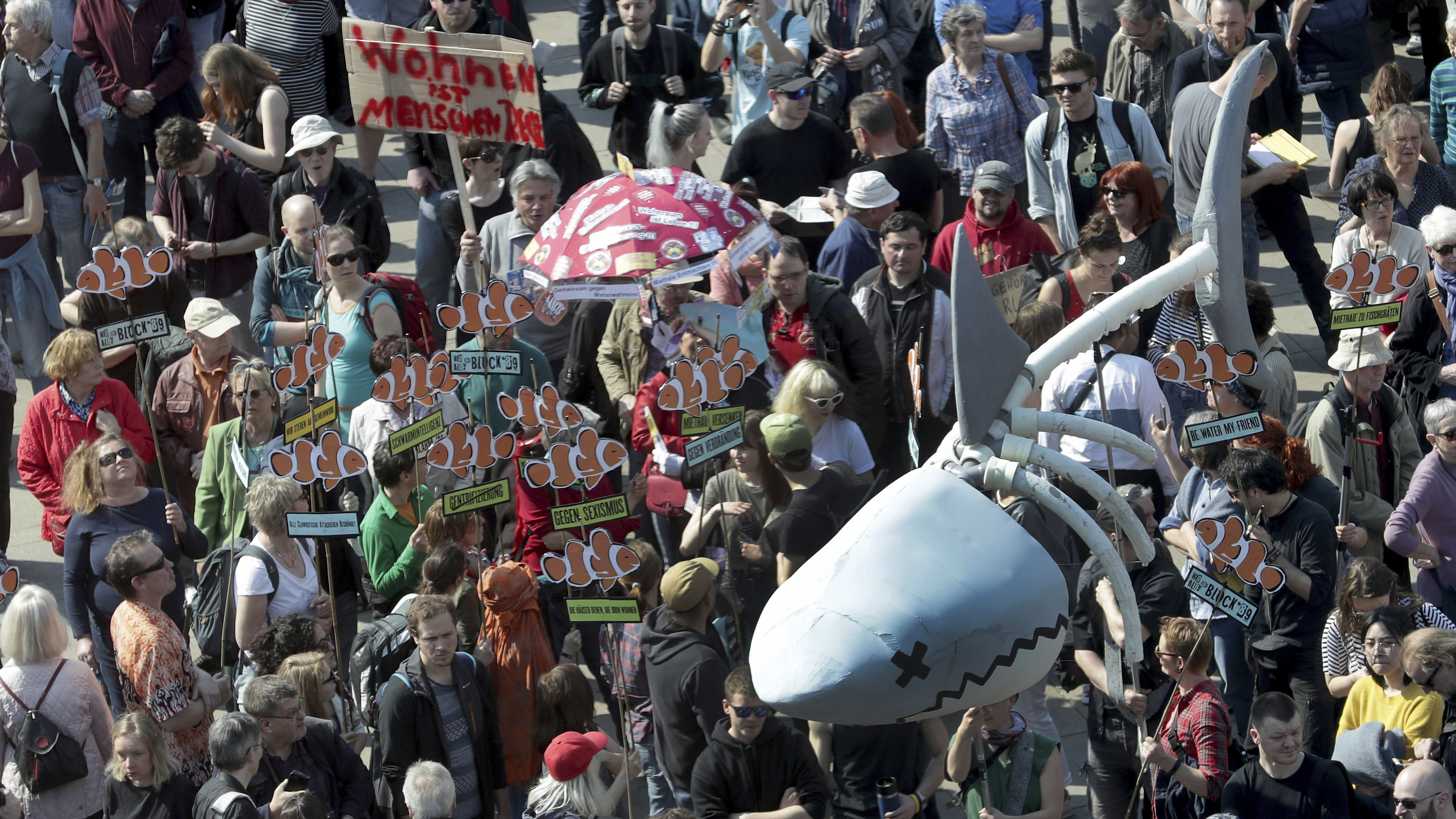 Berliners Demonstrate Against 'Rent Sharks' In Fight Over ...