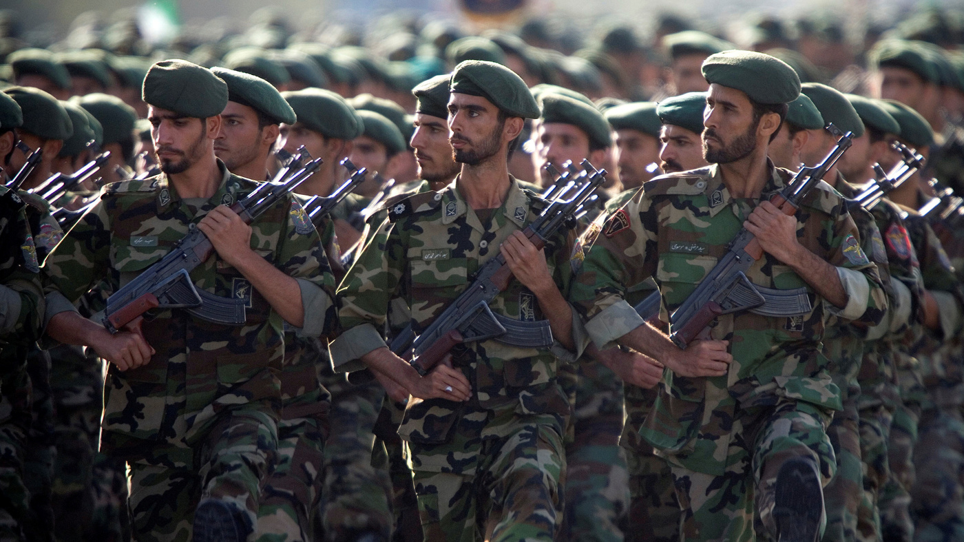 U S Labels Iran S Revolutionary Guard As A Foreign Terrorist Organization Npr