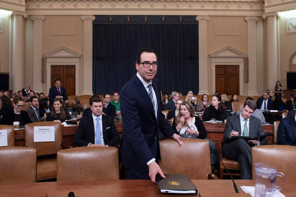 Treasury Secretary Steven Mnuchin testifies before the U.S. House of Representatives last month. (Jim Watson/AFP/Getty Images)