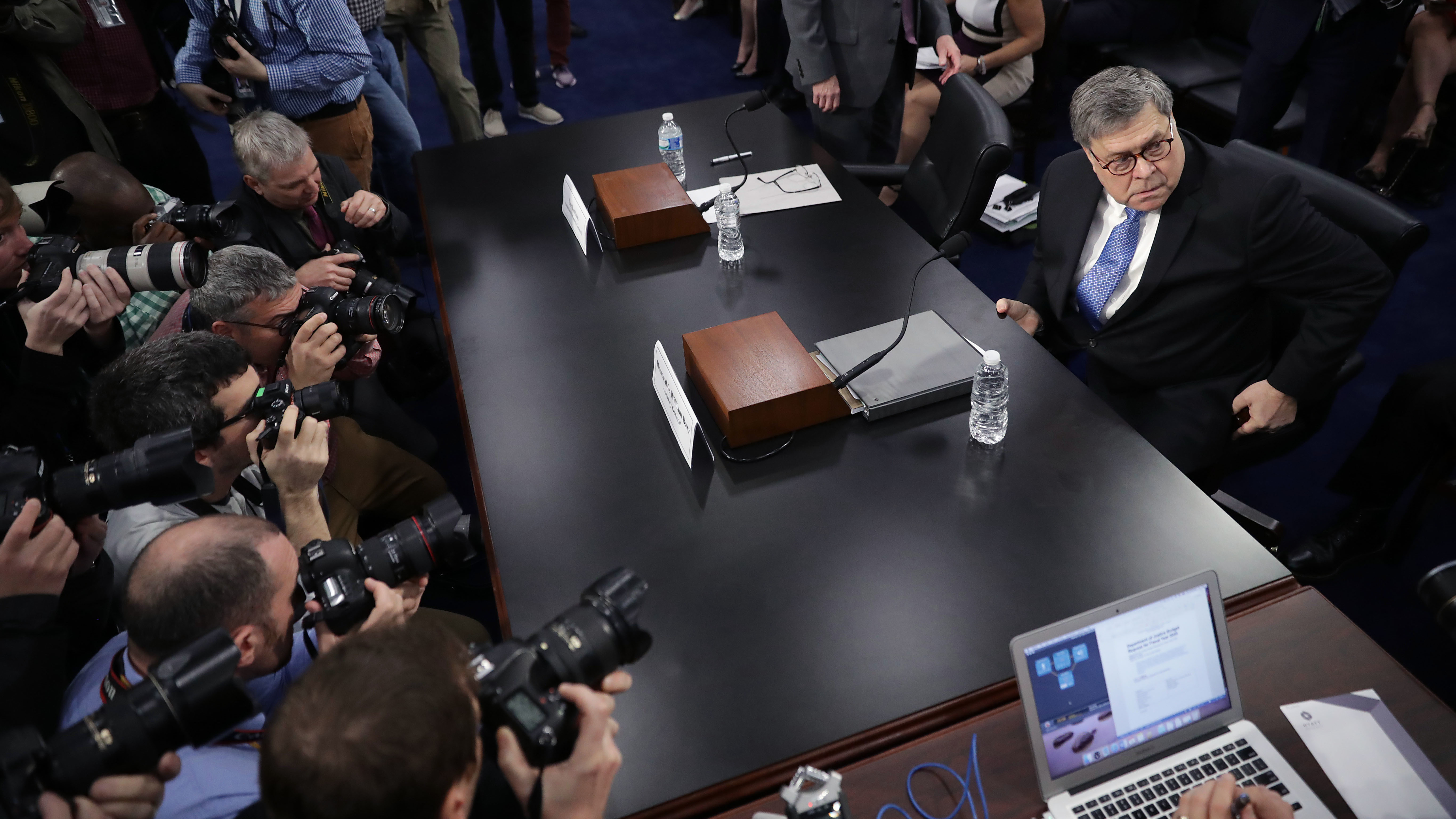 Barr back before Senate as he works on redacted Mueller report