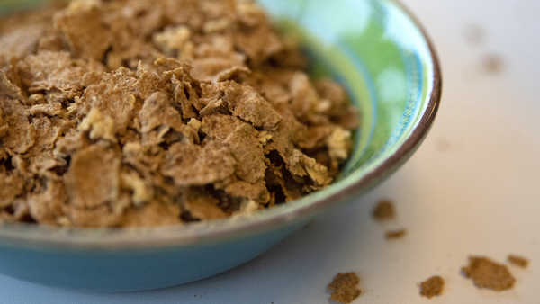 A bowl of Honey Toasted Kernza. General Mills made 6,000 boxes of the cereal and is passing them out to spread the word about perennial grains.