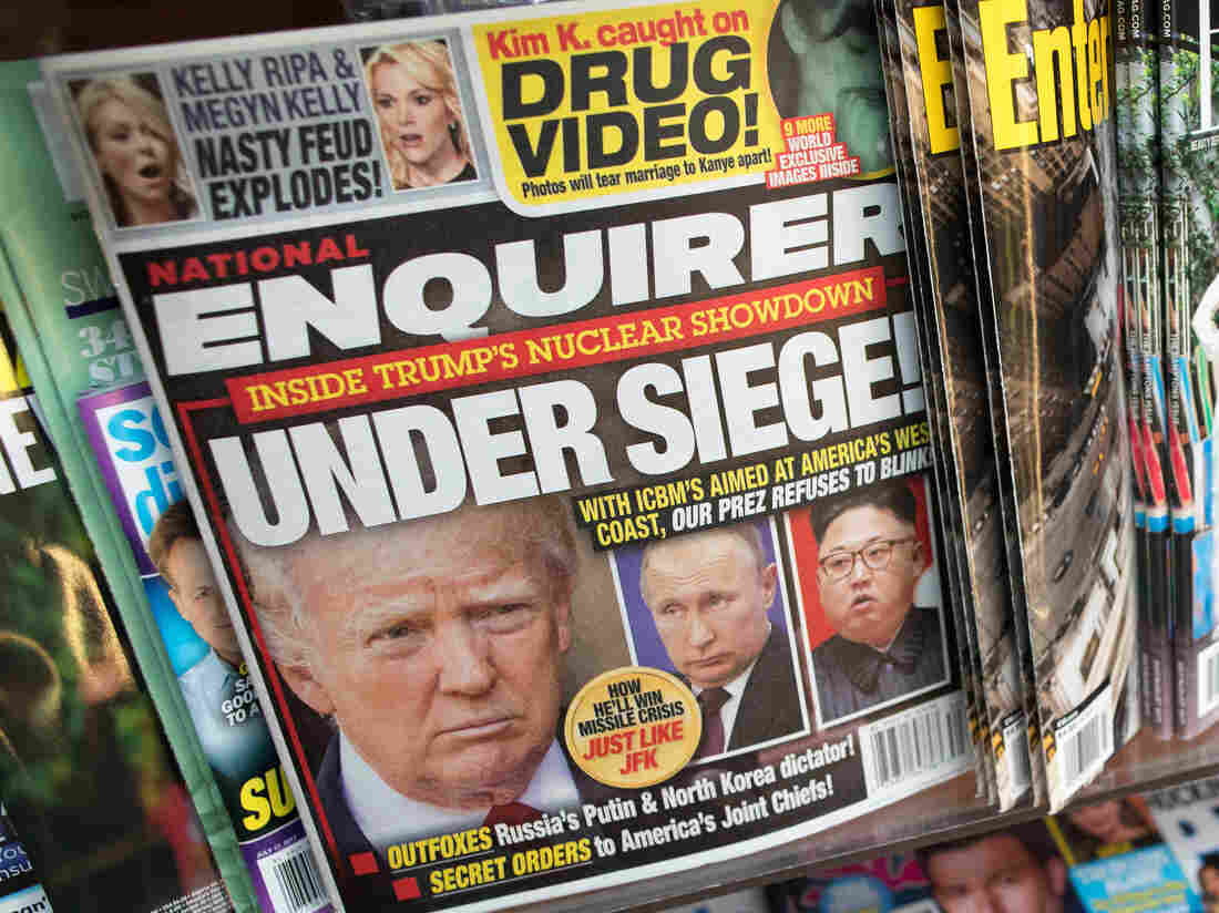AMI says its shopping National Enquirer over 2016 election scandals