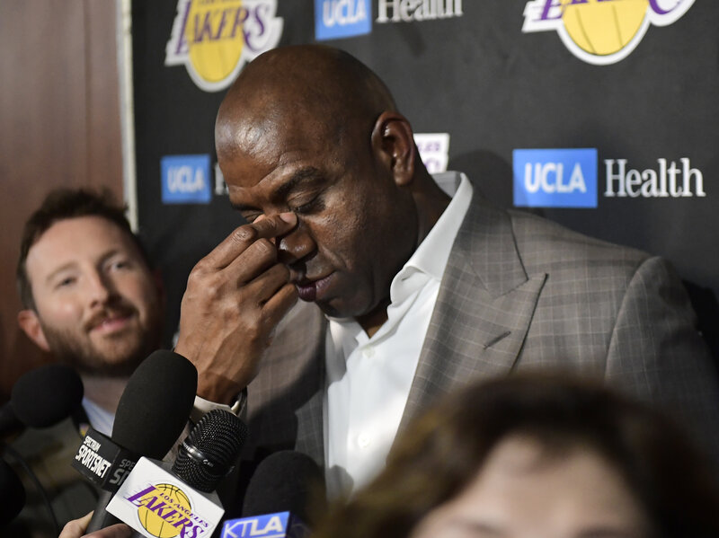 No More Magic: Johnson Abruptly Resigns From The LA Lakers : NPR