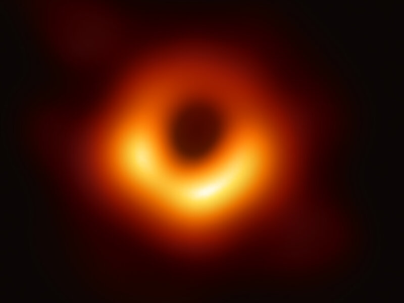 First Image Of A Black Hole Is Released By Massive Telescope