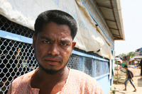 Sodul Amin, 30, is one of tens of thousands of Rohingya refugees who've gotten chickenpox since December. The highly contagious disease spreads easily in the overcrowded refugee camps.