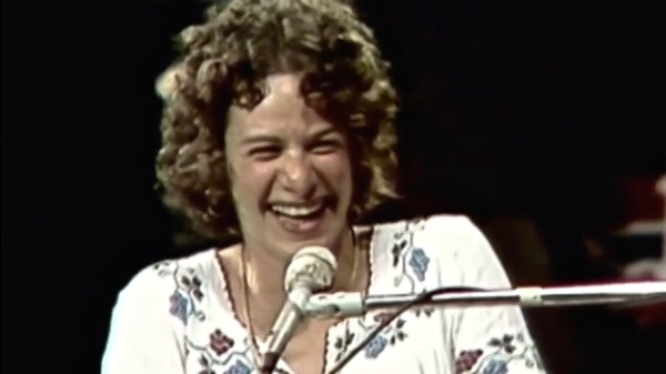 Carole King performing live at the Montreux Jazz Festival in 1973