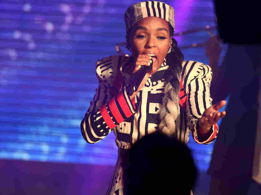 Janelle Monae performs at the AT&T Pre Game Concert leading in to NBA All-Star on Sunday, February 17, 2019 at EpiCentre Theater in Charlotte, North Carolina.