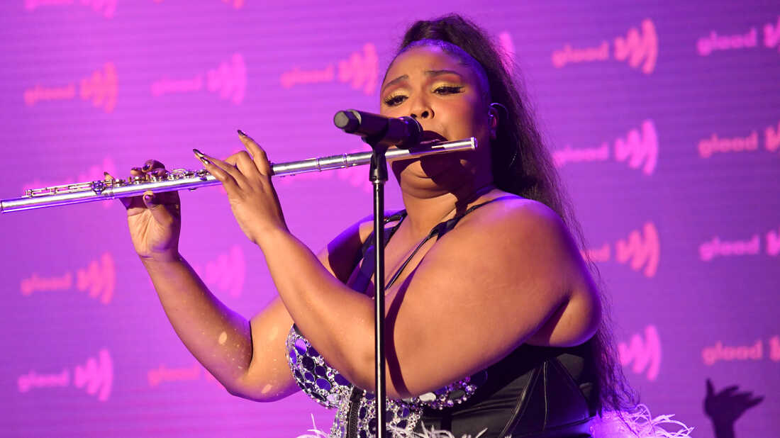 Lizzo performs onstage during the 30th Annual GLAAD Media Awards on March 28, 2019 in Beverly Hills.