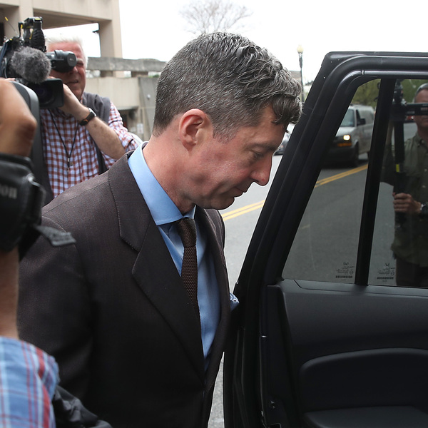 Samuel Patten, a former associate of Paul Manafort, leaves the U.S. District Court after his sentencing hearing April 12, 2019, in Washington, D.C.