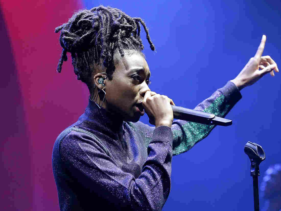 Little Simz performs on stage, as thousands of Global Citizens unite with leading UK artists industry leaders, and non-profit organizations for Global Citizen Live London, at the O2 Academy Brixton on April 17, 2018 in London, England.