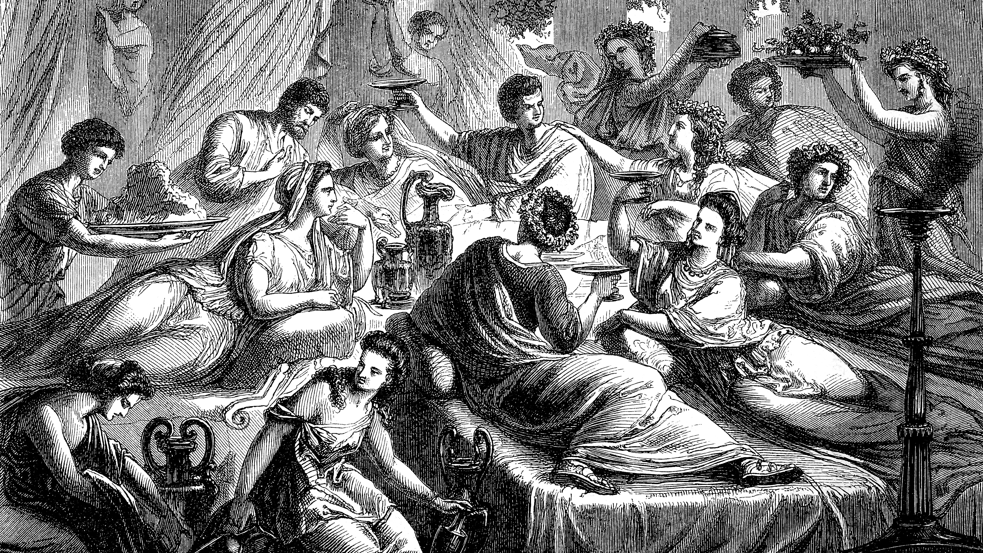 The Lavish Roman Banquet A Calculated Display Of Debauchery And Power The Salt Npr