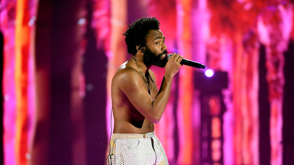 Donald Glover performing as Childish Gambino in 2018. Guava Island, a new film featuring Glover and Rihanna, premiered at Coachella, where Childish Gambino headlined on Friday.