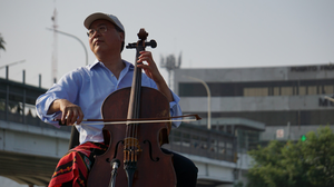 Cellist Yo-Yo Ma Plays Bach In Shadow Of Border Crossing