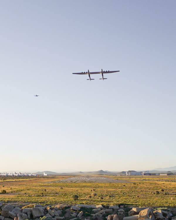 With a wingspan greater than the length of an American football field, the Stratolaunch successfully completed its first test flight Saturday morning.