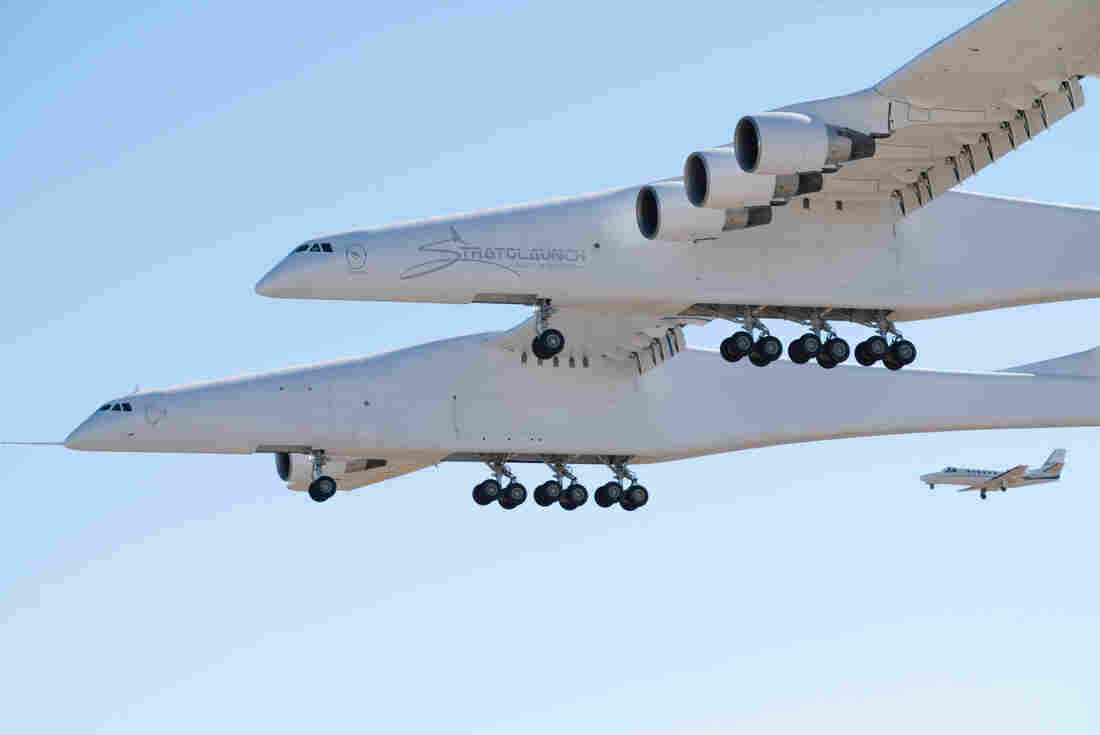 World's largest plane by wingspan lifts off into the history books