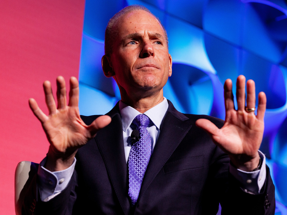 Analysts say Boeing CEO Dennis Muilenburg and the company were slow to take responsibility in the crashes of two 737 Max planes within months of each other. (Anna Moneymaker/Bloomberg via Getty Images)