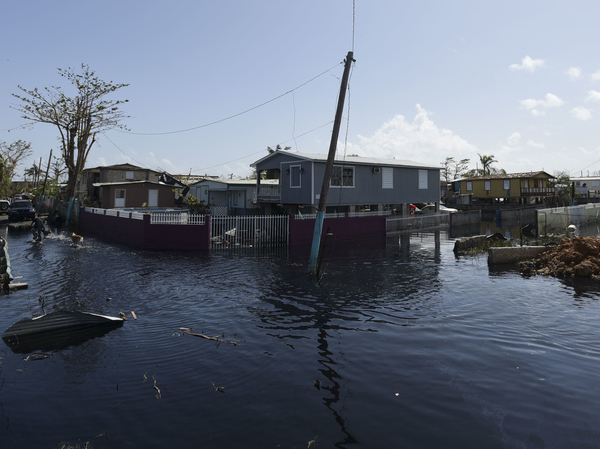 Floodwaters inundated Cataño, Puerto Rico, on Sept. 28, 2017, days after it was hit by Hurricane Maria.