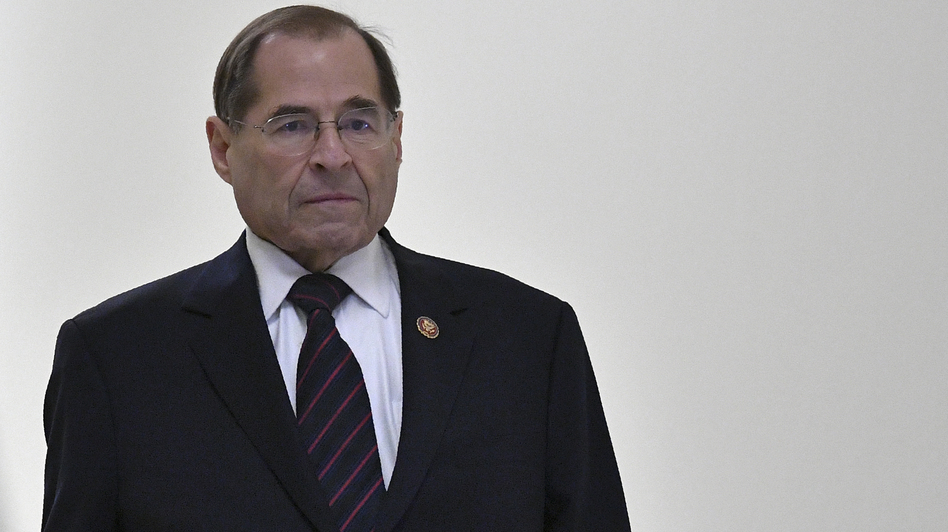"House Judiciary Committee Chairman Jerry Nadler has said, ""This committee requires the full report and the underlying materials because it is our job — not the attorney general's — to determine whether or not President Trump has abused his office."" (Mandel Ngan/AFP/Getty Images)"