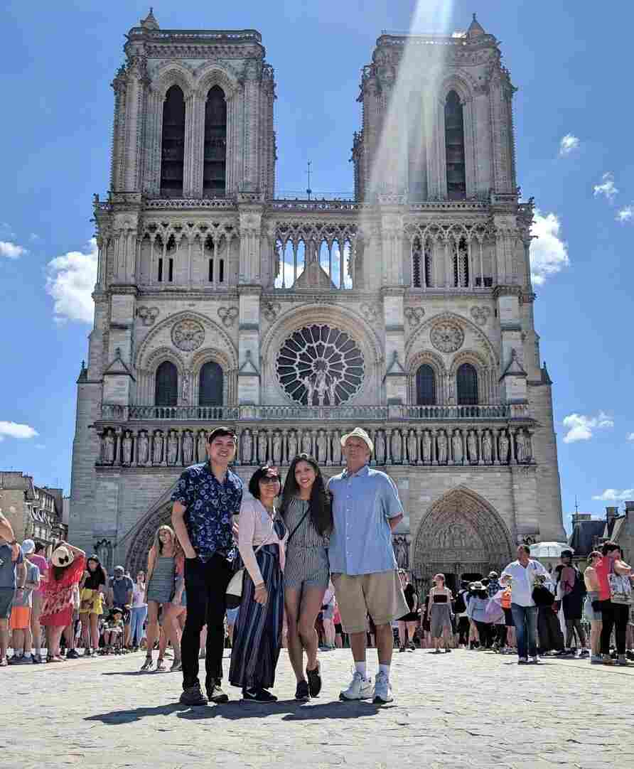 My dad and I saw Notre Dame for the first time last year. Just being able to go on vacation with my parents while they're still healthy and able to travel is a memory I'll forever cherish