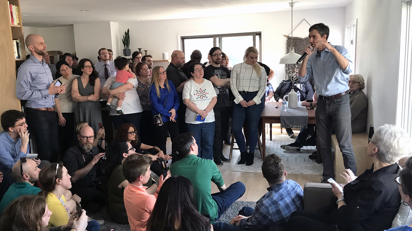 Why 2020 Democrats Are Showing Up In People's Living Rooms In Iowa - NPR image
