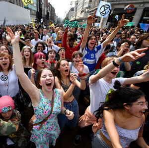 Protests Calling For Climate Action Disrupt London For 3rd Day