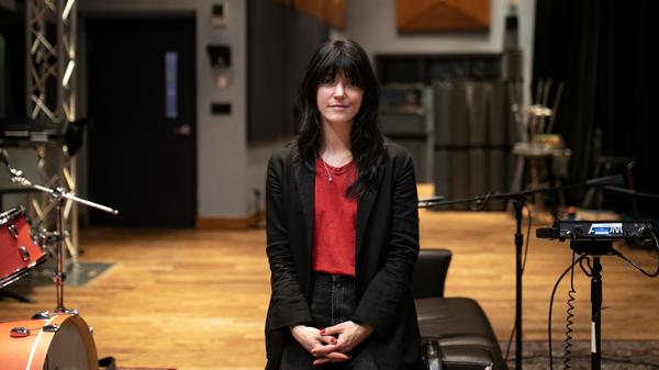 Sharon Van Etten inside the World Cafe Performance Studio