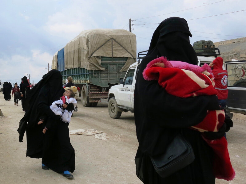 We Pray For The Caliphate To Return': ISIS Families Crowd Into