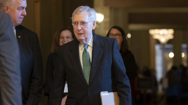 Senate Majority Leader Mitch McConnell, R-Ky., photographed at the Capitol in Washington in March, announced Thursday that he would introduce legislation to raise the minimum age for purchasing tobacco products to 21. (J. Scott Applewhite/AP)