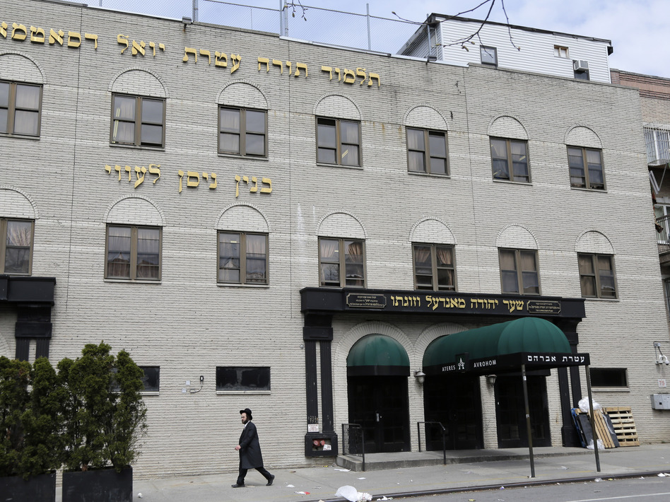 A Brooklyn judge on Thursday upheld a mandatory measles vaccinations order. On the same day, the United Talmudical Academy, pictured here, reopened after being closed for failing to comply with a Health Department order that required it to provide medical and attendance records amid a measles outbreak. (Seth Wenig/AP)