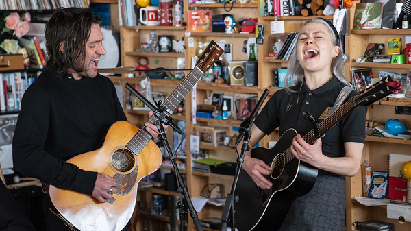 Better Oblivion Community Center performs a Tiny Desk Concert on April 3, 2019 (Amir Alfky/NPR).
