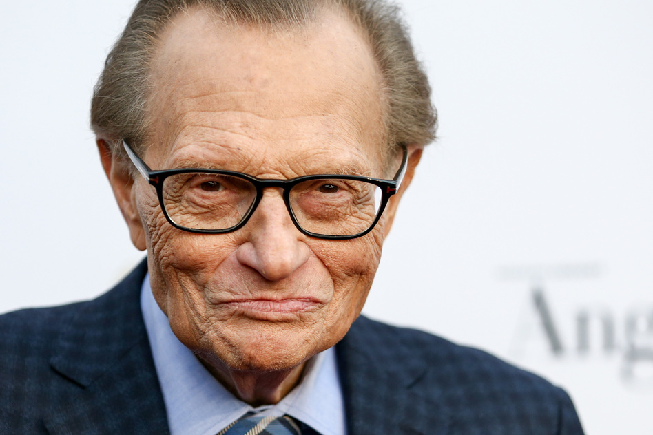 The ever-curious Larry King adopted a philosophy of letting his guests be the star of the show and letting them teach him a thing or two. (Rich Fury/Getty Images)