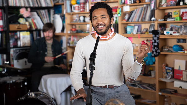 Toro Y Moi performs a Tiny Desk Concert on April 16, 2019 (Claire Harbage/NPR).