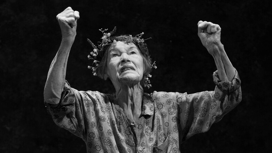 """Glenda Jackson plays the title role in Shakespeare's <em>King Lear</em> on Broadway. Jackson still gets nervous after decades on stage because she knows how """"easy it is to act really badly, and how very, very hard it is to act well."""" (Bridget Lacombe)"""