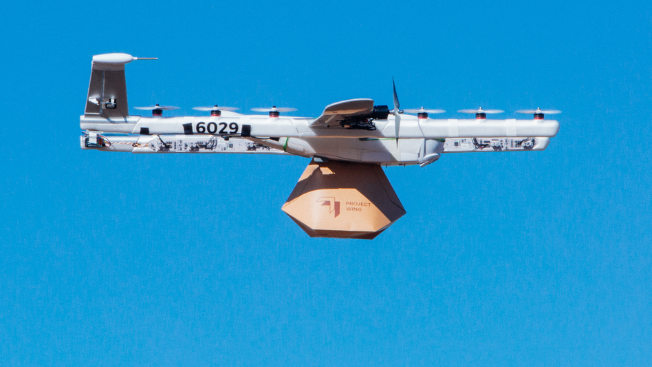 The Wing company, a Google spinoff, has won federal approval to operate its drone delivery system as an airline in the U.S. (Wing)