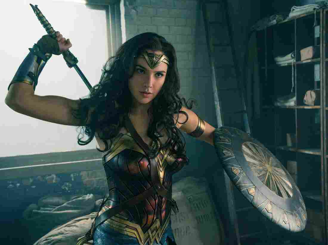 "Gal Gadot in ""Wonder Woman"" 2017 movie"