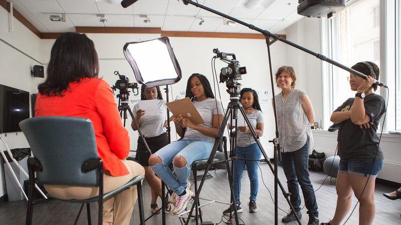 High School Girls Premiere Films In DePaul-Chicago Housing
