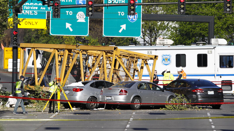 I Hope This Crane Is Just Hiding Other >> Construction Crane Falls From Roof Killing 4 In Seattle Npr