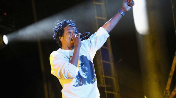 Jay-Z, performing at the Something in the Water festival in Virginia Beach, V.A. on Saturday. The rapper was one of the many artists that had been scheduled to perform at Woodstock 50.