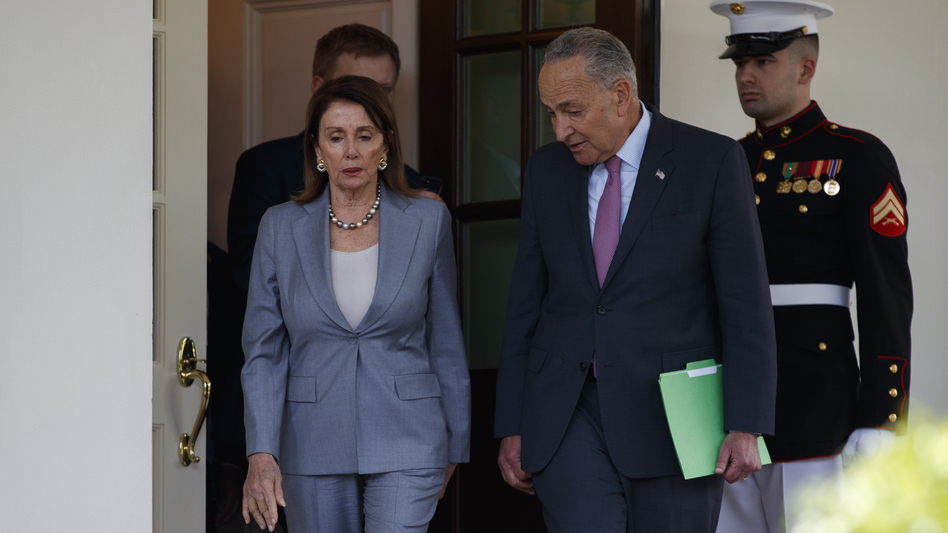 House Speaker Nancy Pelosi and Senate Minority Leader Chuck Schumer said they had a constructive White House meeting with President Trump on infrastructure on Tuesday. (Evan Vucci/AP)