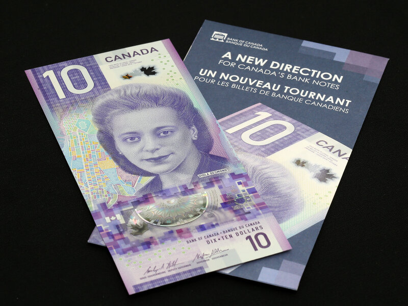 New Canadian 10 Bill Wins International Bank Note Award Npr