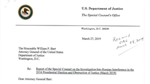 READ: Mueller's Letter Expressing Concern About Barr's Summary Of His Report