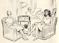 """The Latin American Library at Tulane University is digitizing and archiving a selection of Spanish language soap operas from the 1960s. The illustration above appeared in a brochure titled <a href=""""https://digitallibrary.tulane.edu/islandora/object/tulane%3A52677/datastream/PDF/view"""">""""What Is and How to Produce a Radionovela,""""</a> published by America's Productions, Inc."""