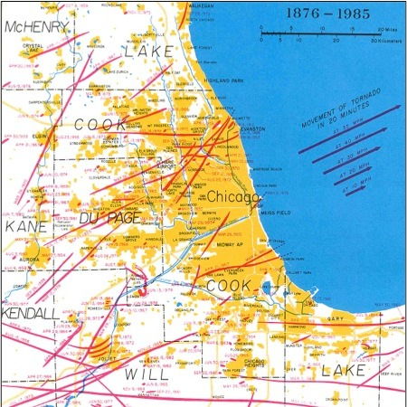 Chicago's Tornado-Proof Delusion : NPR on cook county map, chicago county map, great lakes megalopolis, chicago regions map, west suburban map, metro detroit, dallas/fort worth metroplex, lake county, chicago loop, chicago area map, dekalb county, atlanta metropolitan area, chicago pollution map, chicago restaurants map, cook county, dupage county map, delaware valley, chicago illinois, chicago construction map, chicago crime map, lake county map, naperville map, chicago inner city map, will county, chicago loop map, new york metropolitan area, dupage county, chicagoland map, oak park, chicago church map, aurora map, illinois map, chicago economy map, greater houston,
