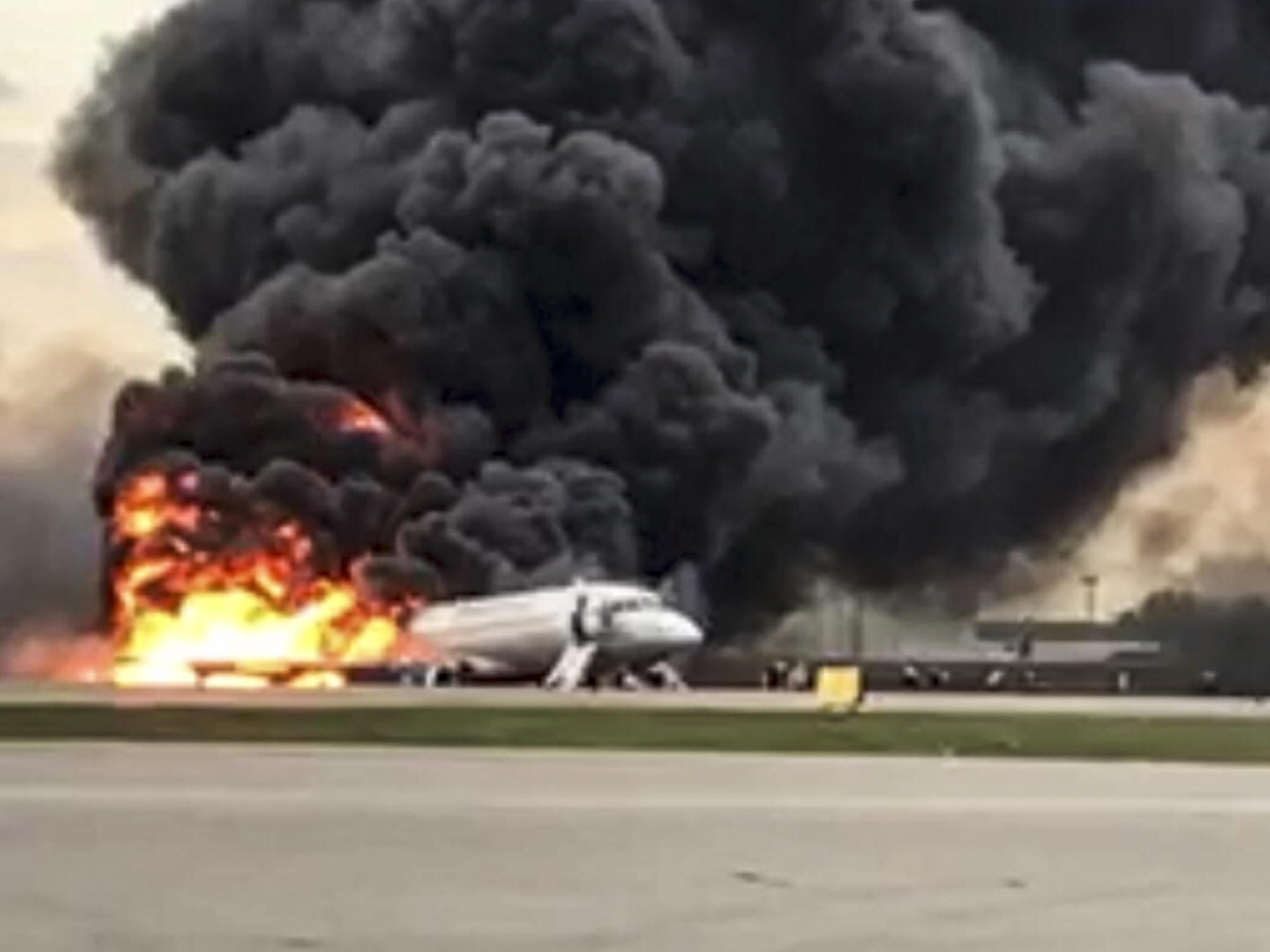 Fiery Crash Landing Of Russian Passenger Plane In Moscow Leaves 41 Dead